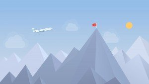 Airplane and Mountain Homepage Slider Image - LDP Associates, Inc.